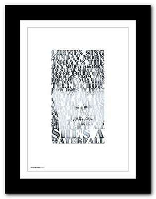 THE STONE ROSES ❤ Waterfall ❤ typography poster art lyrics print in 5 sizes #28