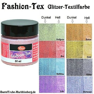 Fashion Tex, Glitzernde Textilfarbe von Viva Decor