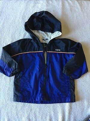 Toddler / Boys Blue OshKosh Lightweight Windbreaker Zip-up Jacket 4T