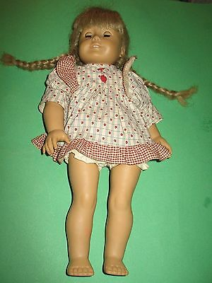 Retired American Girl Doll Kirsten Comes With Red Apple Dress and Bloomers !