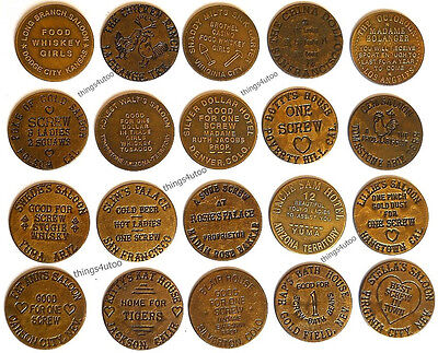 Hotel Brothel cat house brass tokens lot of 20 #20pc