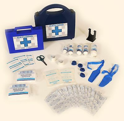 Qualicare Kitchen Catering First Aid Kit - Fingerstalls, Blue Plasters, Tape