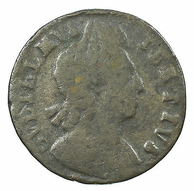 Great Britain, William Iii Halfpenny, Scarce, 1700