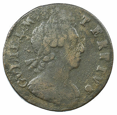 Great Britain, William Iii Halfpenny, Scarce, 1699