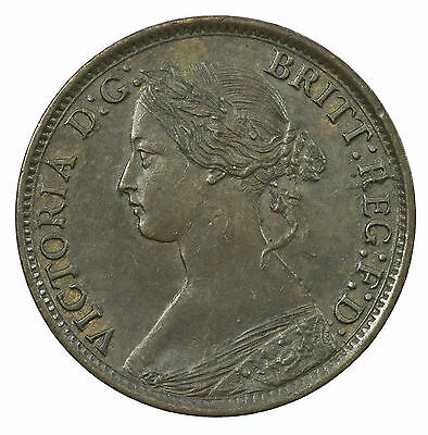 Great Britain, Victoria Farthing, Ef, 1861