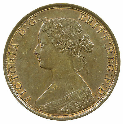 Great Britain, Victoria Half-Penny, Bun Head, High Grade, Some Lustre, 1862