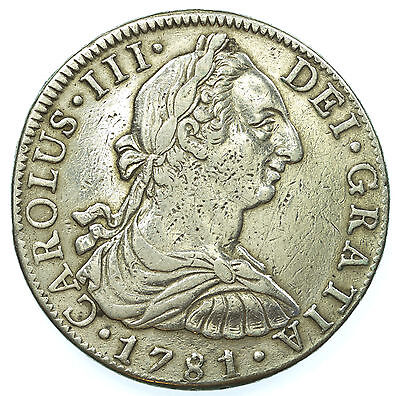Mexico, Charles Iii 8 Reales, Silver, 1781