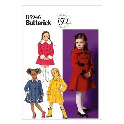 BUTTERICK PATTERNS B5946 CL - Cartamodello per cappotto da bambina ... a593764dcb7d