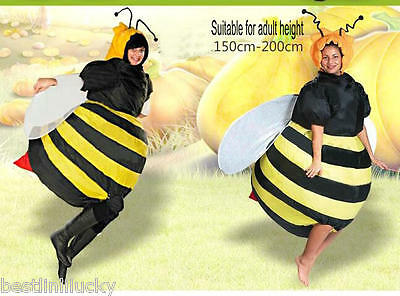 Bumble Bee Inflatable Costume Unisex Fancy Dress Suit Deguisement Holiday party