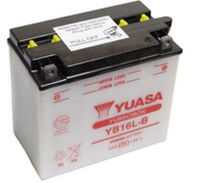 Genuine Yuasa YB16L-B Motorcycle Battery Supplied With Acid Pack