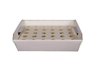 Ivory Confetti Cone Tray - up to 30 Cones For Wedding Decorations Vintage Rustic
