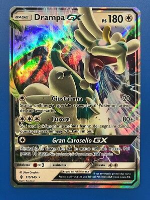 DRAMPA GX 115/145 ☀ ☾ Carta Pokemon Sole e Luna Guardiani Nascenti Italiano Mint
