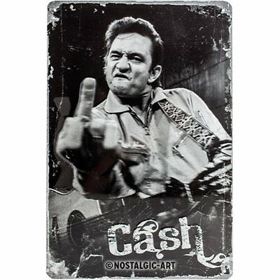 Nostalgic-Art Johnny Cash Up Yours Metal Plaque (A2F)