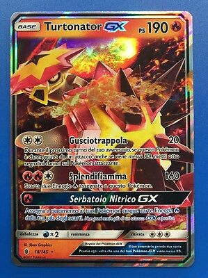 TURTONATOR GX 18/145 ☀ ☾ Carta Pokemon Sole e Luna Guardiani Nascenti Ita