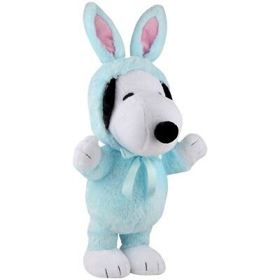 """Peanuts Plush Snoopy Easter Greeter in Bunny Rabbit Costume 19"""" 24"""" w Ears 2017"""