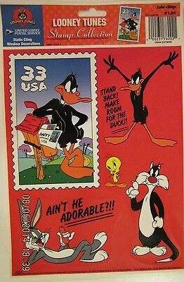 1999 USPS one Color Clings for windows from the Looney Tunes Stamp Collection.