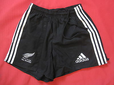 Short Adidas All Blacks New Zealand 100 % coton vintage Retro Rugby - 44