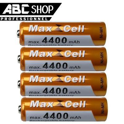 4 PILES AA ACCUS RECHARGEABLE MIGNON 4400mAh Ni-MH 1,2V LR06 R06 R6 H06 H6 RC6
