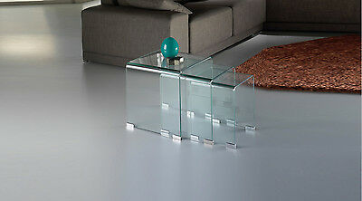 Schuller 552283 Glass Mesas Nido Transparente table side crystal moder deco home