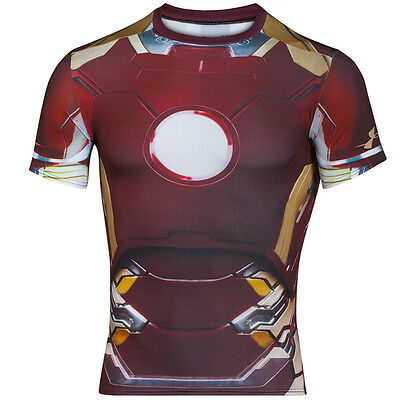Under Armour Mens Alter Ego Compression Short Sleeve Shirt Iron Man