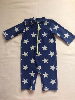 Mini Boden Baby Boys Navy Star Print Swimming Suit / Costume 18-24 months