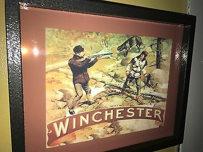 """WInchester """"Hold On"""" Hunting Pistol Firearms Rifle Shotgun Man Cave Lighted Sign"""