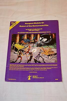 TSR's ADVANCED DUNGEON AND DRAGONS MODULE Q1 QUEEN OF THE DEMONWEB PITS 9035 VG