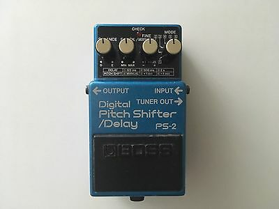 Boss Ps-2 Digital Pitch Shift Shifter Delay Effects Pedal Japan 1987
