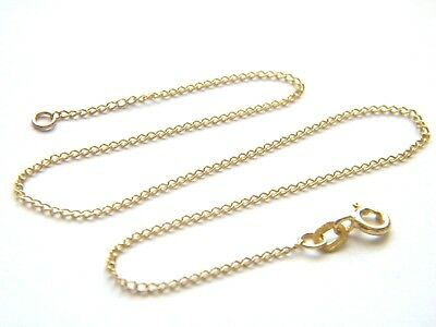9ct Yellow Gold 10 inch Anklet Chain 1.2mm thick- Lightweight Curb Chain