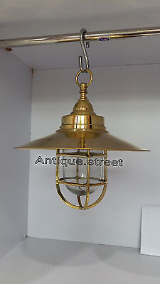 Nautical Light Marine Ship Brass Passage Hanging Outdoor Light 2 Pc