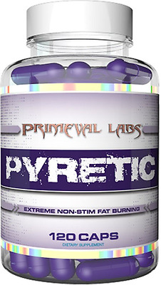 Primeval Labs PYRETIC, Non-Stim Fat Burning,Loose Body Fat, Super Cardarine
