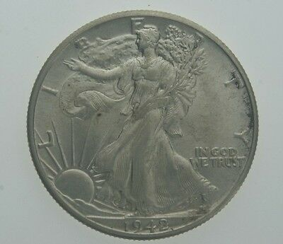 1942 Walking Liberty SIlver Half Dollar Choice (BU) Brilliant Uncirculated Cond