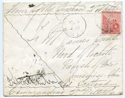 "Cape of Good Hope 1881 ""Soldiers Letter"" 1st Boer War with 1d to Scotland."