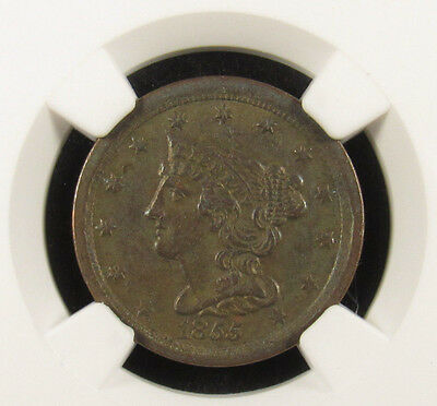 1855 Half Cent C-1 NGC AU50BN Stack's Collection (016)