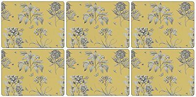 Pimpernel-Portmeirion Etchings e rose, legno, giallo, piccolo, set di 6 (X2r)