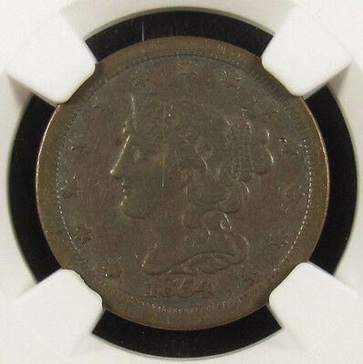 1854 Half Cent C-1 NGC XF40BN Stack's Collection (015)