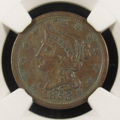 1853 Half Cent C-1 NGC XF45BN Stack's Collection (014)