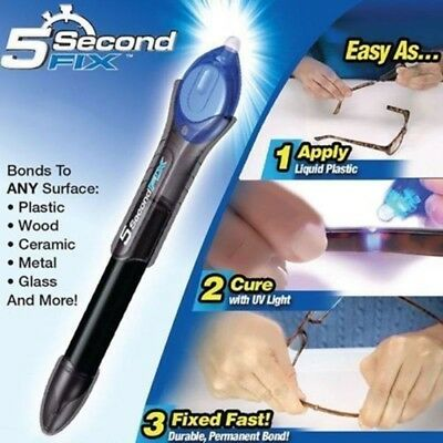 1PC 5 Second Fix UV Light Repair Tool With Glue Super Powered Liquid Plastic Wel