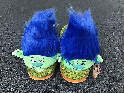 TROLLS MOVIE SLIPPERS / DREAMWORKS BRANCH SLIPPERS Size EXTRA LARGE ** NEW**