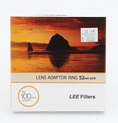 LEE 52MM WIDE ANGLE ADAPTER RING ORIGINAL METAL f/ 100M ND & GRAD FILTERS (043)