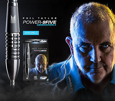26 Gram TARGET PHIL TAYLOR POWER 9FIVE GEN 4 95% TUNGSTEN DARTS...JUST RELEASED