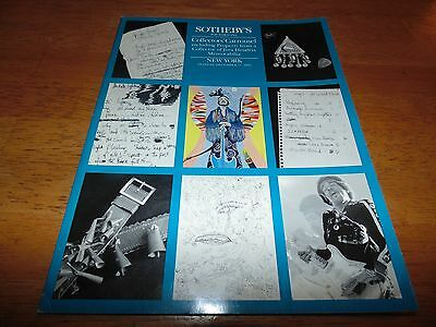 Sotheby's Auction Catalog Jimi Hendrix plus Auction Results Sheet