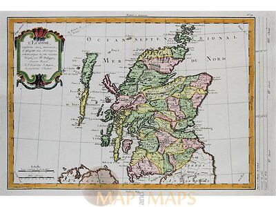 Schotland Old antique map L'Ecosse Philippe 1787