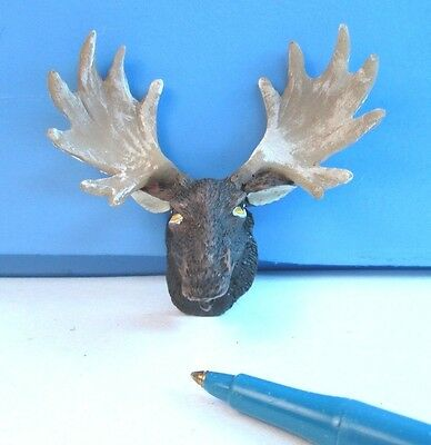 Dollhouse Miniature.. Artisan.. Moose Head with Antlers ...: G123
