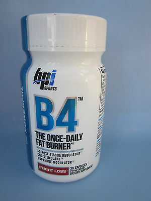 BPI - B4 Once Daily Fat Burner Weight Loss Supplement 30 CAPS Exp. 10/2016