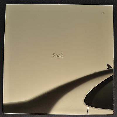 2003 Saab Sales Brochure Folder 9-3 9-5 Excellent Original 03