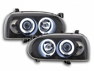 FK Automotive FKFSVW14001 Fari Angel Eyes Ccfl Nero (r2g)