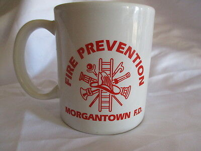 Morgantown Fire Department West Virginia Fire Prevention Coffee Cup