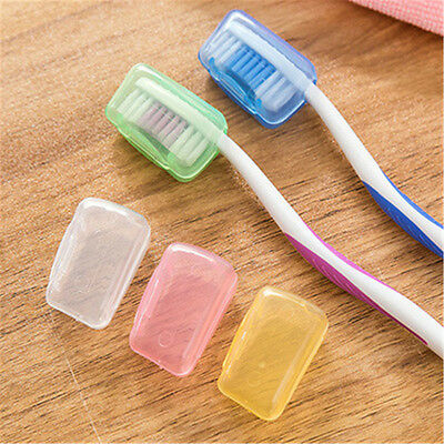 5 x Portable Toothbrush Head Cover Travel Camping UK Holder Brush Cap Case Set