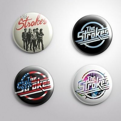 4 THE STROKES - Pinbacks Badge Button Pin 25mm 1''